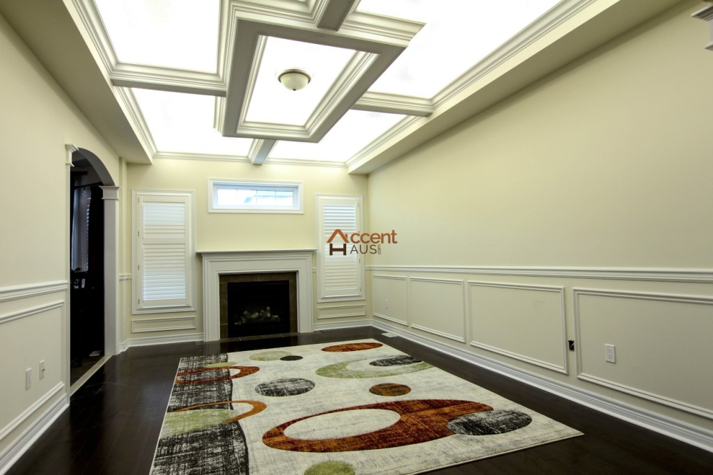 Light cove in a coffered ceiling